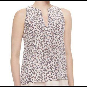 JOIE | aruna silk leopard print sleeveless blouse